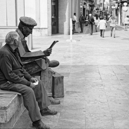 """""""Mi amigo"""". Autor: Jaime Zafra. Ganadora categoría 1 Concurso de fotografia """"Mirando la Soledad"""" MatiaZaleak"""